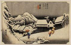 """""""Kambara"""" by Hiroshige Utagawa, 1830's"""