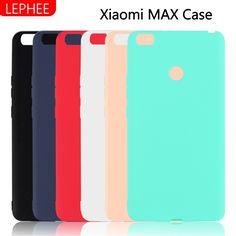 Lephee xiaomi mi max case silicone xiaomi max copertura opaca ultra sottile variopinta casi della copertura del telefono per xiomi mi max