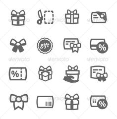 Gifts Icons (Web) | DailyDesignMag