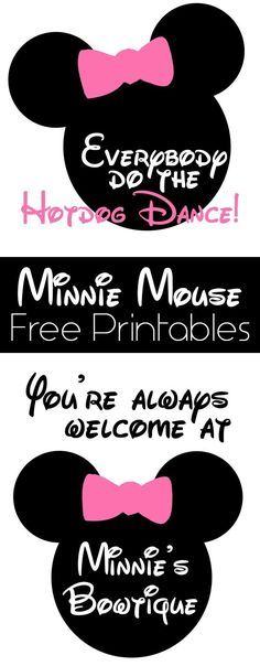 Minnie Mouse Birthday Party Details and Free Printables Minnie Mouse Free Printables on www. Minnie Mouse 1st Birthday, Minnie Mouse Theme, 3rd Birthday Parties, 2nd Birthday, Birthday Presents, Happy Birthday, Mouse Parties, Disney Parties, Mickey Party