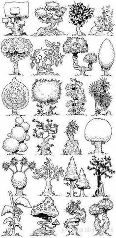 Fun trees. Artist unknown