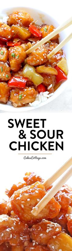 Frugal Food Items - How To Prepare Dinner And Luxuriate In Delightful Meals Without Having Shelling Out A Fortune Easy Sweet And Sour Chicken - Cakescottage Chicken Crisps, Asian Recipes, Healthy Recipes, Easy Recipes, Sweet Sour Chicken, Sour Taste, Braised Chicken, Asian Cooking, Cooking Fish
