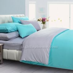 grey and turquoise duvets | Lightuphome.com always provides the best price of bedding sets ...