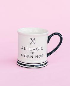 Allergic to Mornings Barbershop Mug