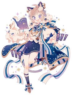 Media Tweets by 上倉エク (@ekureea) / Twitter Vector Character, Character Design Cartoon, Cartoon Art Styles, Fantasy Character Design, Character Design Inspiration, Character Art, Cute Anime Chibi, Anime Girl Cute, Kawaii Anime Girl