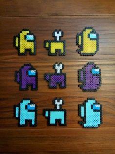 Easy Perler Bead Patterns, Melty Bead Patterns, Perler Bead Templates, Diy Perler Beads, Perler Bead Art, Beading Patterns, Easy Perler Beads Ideas, Perler Bead Emoji, Kandi Patterns