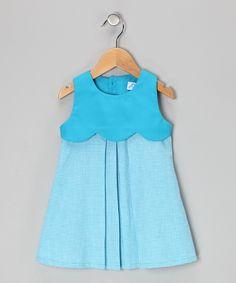 Turquoise Gingham Dress - Infant, Toddler  Girls