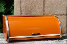 Vintage metal bread bin