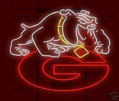 Georgia Bulldogs Logo Neon Sign - myneonhaven.com