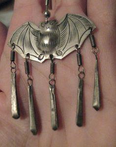 The Thai bat earrings I just won on eBay!