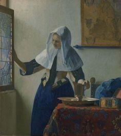 Johannes Vermeer, Young Woman with a Water Pitcher on ArtStack #johannes-vermeer #art