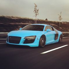 Beautiful Baby Blue Audi R8