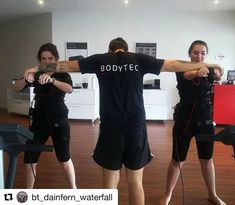 These clients are pushing their limits during their Bodytec morning session!  #bodytec #bodytecsa #emstraining #ems #training #fitness #flex #strength #power #fitfam #lifestyle #20mins #active #workout #fit #motivated #noexcuses #core #abs #squats #transformation #bodygoals #team
