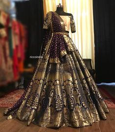 Looking for a budget lehenga store in Delhi? Check out the collection by Ricco India. Lehenga prices start from INR and they even do banarasi lehengas. Indian Wedding Gowns, Desi Wedding Dresses, Party Wear Indian Dresses, Indian Bridal Lehenga, Indian Gowns Dresses, Indian Bridal Outfits, Indian Bridal Fashion, Dress Indian Style, Indian Fashion Dresses