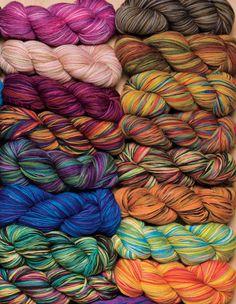 Stroll Hand Painted Sock Yarn Knitting Yarn from KnitPicks.com - Fingering weight superwash merino & nylon hand dyed knitting yarn