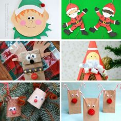so many Christmas crafts for the kids