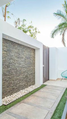 21 New Ideas Exterior Wall Garden Patio Tor Design, House Design, Backyard Patio, Backyard Landscaping, Pergola Patio, Landscaping Ideas, Patio Privacy, Small Front Yard Landscaping, Water Walls
