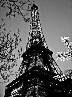 """Eiffel Tower Black and White Paris, France 8""""x10"""" on Etsy, $9.99"""