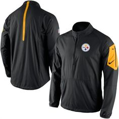 Nike Pittsburgh Steelers Black Lockdown Half-Zip Jacket #steelers #pittsburgh #nfl
