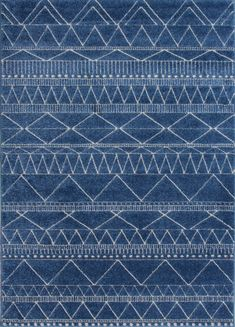 Modern Indigo Blue Tribal Moroccan Rug Soft Scandi Geometric Living Room Rugs UK | Home, Furniture & DIY, Rugs & Carpets, Rugs | eBay!