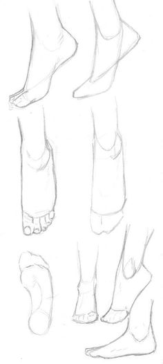 Anatomy Drawing Tutorial A small collection of feet tutorials :) Hope you like it! Pencil Art Drawings, Art Drawings Sketches, Cool Drawings, Animae Drawings, Hard Drawings, Small Drawings, Art Reference Poses, Anatomy Reference, Leg Reference