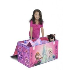 Disney Frozen Toys Chests Collapsible Storage Trunk Box Bedroom Organizer Girls  #Disney