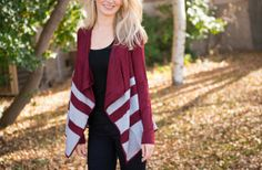 Angie Striped Cardigan- 2 Colors! 59% off at Groopdealz