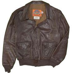 72f374a45 Cooper A-2 Bomber Flight Jacket Vintage 100% Goatskin Leather 44 Regular  United States