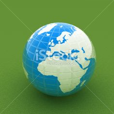 Earth on green Royalty Free Stock Photo