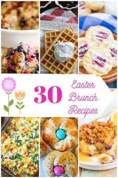 Easter Brunch Recipes. Do you have a tradition of hosting Easter Brunch? From waffles to pastries, breakfast casseroles and more, this collection of delicious brunch recipes will serve as inspiration! #easterbrunch #easterrecipes #brunchrecipes #breakfast #eastertraditions #easterfood Easter Snacks, Easter Brunch, Easter Recipes, Brunch Recipes, Breakfast Recipes, Dessert Recipes, Easter Dishes, Easter Party, Brunch Ideas