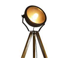 Spotlight. Oak Tripod Lamp.