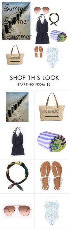 """""""summer"""" by lisa-ann-little ❤ liked on Polyvore featuring Straw Studios, J.Crew, Las Bayadas, New Look, Aéropostale, Tory Burch and strawbags"""
