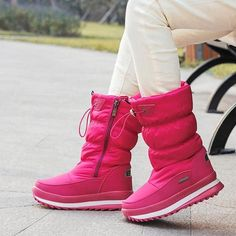 Winter Platform Girls Boots Children Rubber Anti-Slip Snow Boots Price: 28.99$ Shipping: Free Discount ending in next 24 hours. Snow Boots Women, Kids Boots, High Heels For Kids, Heeled Boots, Shoe Boots, Nylons Heels, Warm Boots, Blue Sneakers, Duck Boots