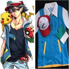 >> Click to Buy << Adult Japanese Anime Pokemon Cosplay Costume Clothing Ash Ketchum Hat Cap T Shirt Gloves Halloween Costumes For Women Man #Affiliate