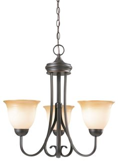 Design House 512707 Cameron Oil Rubbed Bronze 3 Light Chandelier