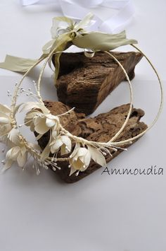 Wedding wreaths bridal crowns with silk cocoons and by AMMOUDIA, $130.00