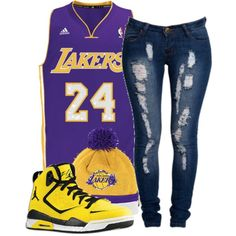"""""""L.A Lakers"""" by ricastayswaggie on Polyvore"""