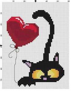 Thrilling Designing Your Own Cross Stitch Embroidery Patterns Ideas. Exhilarating Designing Your Own Cross Stitch Embroidery Patterns Ideas. Cat Cross Stitches, Cross Stitch Heart, Cross Stitch Animals, Cross Stitching, Embroidery Hearts, Hand Embroidery Patterns, Cross Stitch Embroidery, Felt Embroidery, Embroidery Fashion