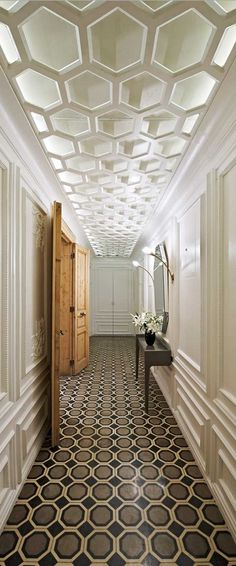 The House Hotel Galatasaray in Istanbul / patterned hallway and ceiling