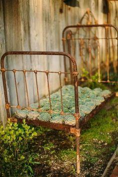 Rusty garden bed