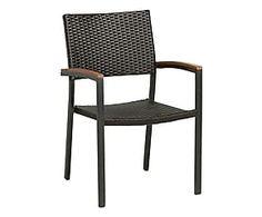 Sedia in alluminio e poliestere Granada grigio - 59x88x58 cm