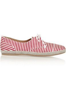 Tabitha Simmons Dolly striped silk espadrilles | NET-A-PORTER is your new must-have summer shoe
