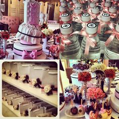 chanel party - cakes and cupcakes