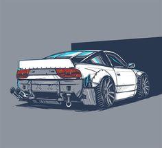Nissan 240 Mercedes Benz Vito, Nissan, Drifting Cars, Car Memes, Car Illustration, Import Cars, Car Posters, Car Drawings, Car Sketch
