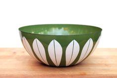 CathrineHolm Large Enamelware Lotus Bowl Avocado Green. $68.00, via Etsy.