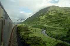 Caledonian Sleeper on the West Highland Line by Fort William