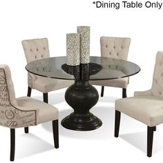 Glass Top Table in Antique Black | Nebraska Furniture Mart With a smaller glass top, this would work nicely.