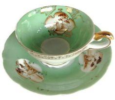 Mint Green teacup and saucer