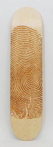 "Laser Engraved Skateboard Deck ""Fingerprint"" | eBay"