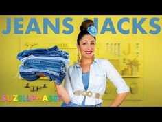 JEANS HACKS    4 THINGS YOU DIDN'T KNOW YOU COULD DO WITH DENIM - YouTube